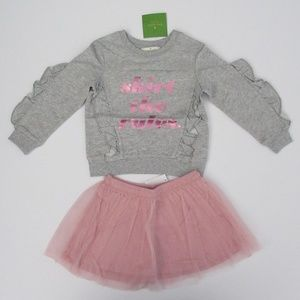 NWT Kate Spade LS Skirt the Rules Tulle Skirt Set